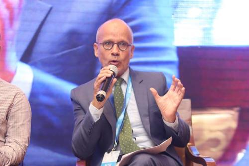 Mr Christophe De Vroey, First Counsellor - Trade and Economic Affairs, Delegation of the European Union to India speaking during the session: Global best practices on universal health coverage at MTaI MedTekon 2018