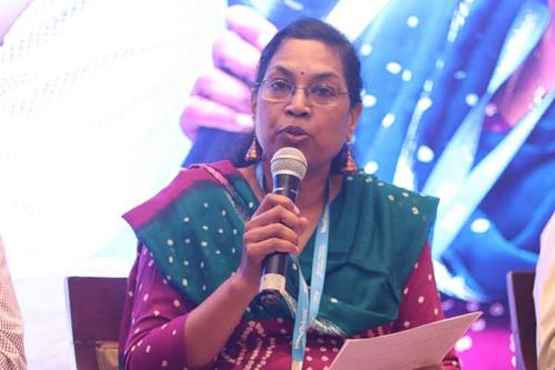 Dr Ratna Devi, CEO & Founder, DakshamA and Indian Alliance of Patients Group (IAPG) speaking during the session  at MTaI MedTekon 2018