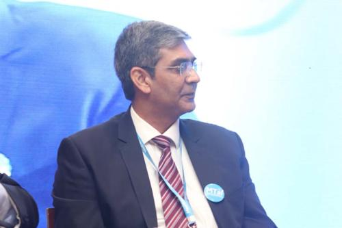 Mr Diwaker Rana,  Managing Director, KARL STORZ Endoscopy India Pvt. Ltd moderating the session at MTaI MedTekon 2018