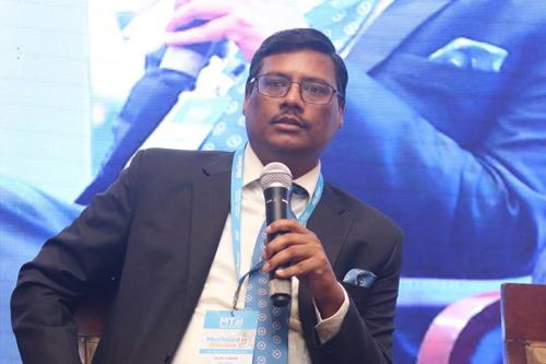 Mr Alok Kumar, Adviser, NITI Aayog sharing his views on skilling the healthcare workforce and the contribution of Medical Technology Industry in it at MTaI MedTekon 2018