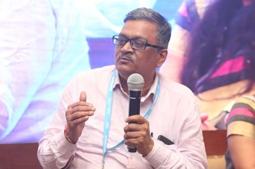 Dr S.B. Sinha, Adviser, NHSRC speaking during the session at MTaI MedTekon 2018