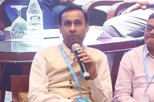 Mr Ashish Jain, CEO, Health Sector Skill Council sharing his views during the session at MTaI MedTekon 2018