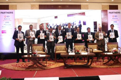 MedTech: The Keystone for AYUSHMAN BHARAT  - Theme Paper release at MTaI MedTekon 2018From left to right- Mr Himanshu Baid, Chairman  - Medical Technology Division, CII, Mr Madan Krishnan Vice President, Indian Sub-Continent, Medtronic, Mr Probir Das, Regional Representative, India & Asia Pacific Chairman, Terumo Asia, Mr Badhri Iyengar, Chairman, MTaI MedTekon 2018, Mr Diwaker Rana, Co-Chairman, MTaI MedTekon 2018, H.E. Ambassador Klas Molin, Embassy of Sweden, Dr V K Paul, Member, NITI Aayog, Dr Teodoro J. Herbosa, Executive Vice President, University of Philippines, Mr Pavan Choudary, Chairman & Director General, MTaI, Mr Prabal Chakraborty, Vice President & Managing Director, Boston Scientific India Pvt Ltd.